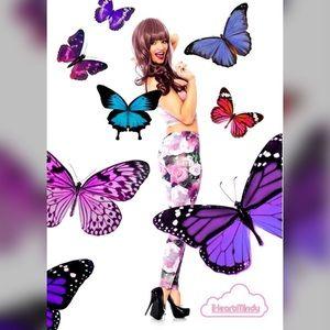 Forever 21 Floral Violet Leggings